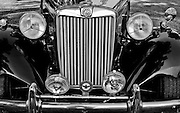 British MG grille at antique car show Bartlett, TN.