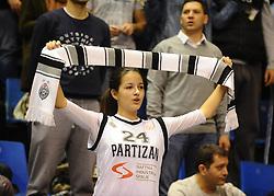 PARTIZAN vs TAJFUN<br /> Beograd, 20.11.2015.<br /> foto: Nebojsa Parausic<br /> <br /> Kosarka, Partizan, Tajfun, Jadranska ABA liga, fans of Partizan