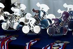 Trophies during Slovenian national individual Time Trial Championship at cycling Marathon Franja BTC City 2014 on June 4, 2014 in BTC, Ljubljana, Slovenia. Photo by Vid Ponikvar / Sportida