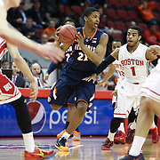 Malcolm Hill #21 of the Illinois Fighting Illini looks to pass the ball during the NIT First Round game at Agganis Arena on March 19, 2014 in Boston, Massachusetts . (Photo by Elan Kawesch)