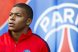 September 30, 2017 - Paris, France - Paris Saint-Germain's French forward Kylian Mbappé Lottin looks on before the French L1 football match between Paris Saint-Germain and Bordeaux at the Parc des Princes stadium in Paris on September 30, 2017. (Credit Image: © Geoffroy Van Der Hasselt/NurPhoto via ZUMA Press)