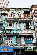 Colonial architecture in Yangon, Myanmar.
