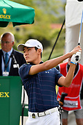 Sean Maruyama (丸山奨王)Japan in action during the Asia- Pacific Amateur Championship at Royal Wellington Golf Club, Wellington, New Zealand on Sunday 29 October.<br /> Photo by Masanori Udagawa. <br /> www.photowellington.photoshelter.com