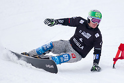 Rok Marguc (SLO) during Final Run at Parallel Giant Slalom at FIS Snowboard World Cup Rogla 2019, on January 19, 2019 at Course Jasa, Rogla, Slovenia. Photo byJurij Vodusek / Sportida