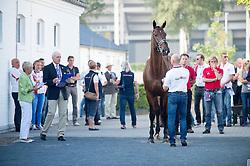 Devroe Jeroen, (BEL), Eres DL<br /> Vet check dressage<br /> European Championschip Aachen 2015<br /> © Hippo Foto - Jon Stroud
