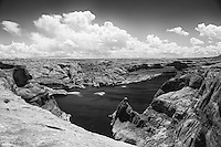 Lake Powell covers what once was seen as the confluence of the Colorado River and Escalante River