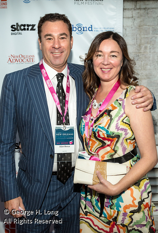 Adam Marcus and guest on the red carpet during opening night of the 25th Anniversary New Orleans Film Festival; Opening night film is 'Black and White' directed by Mike Binder