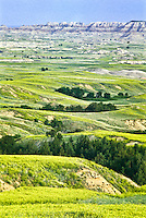 The Badlands Wilderness Area in the Sage Creek Unit.  At 64,000 acres, its the largest wilderness area on the North American prairie.  Badlands National Park, South Dakota.