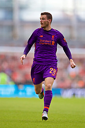 DUBLIN, REPUBLIC OF IRELAND - Saturday, August 4, 2018: Liverpool's Andy Robertson during the preseason friendly match between SSC Napoli and Liverpool FC at Landsdowne Road. (Pic by David Rawcliffe/Propaganda)