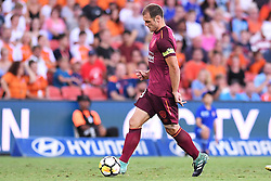 January 8, 2018 - Brisbane, QUEENSLAND, AUSTRALIA - Luke DeVere of the Roar (3) in action during the round fifteen Hyundai A-League match between the Brisbane Roar and Sydney FC at Suncorp Stadium on Monday, January 8, 2018 in Brisbane, Australia. (Credit Image: © Albert Perez via ZUMA Wire)