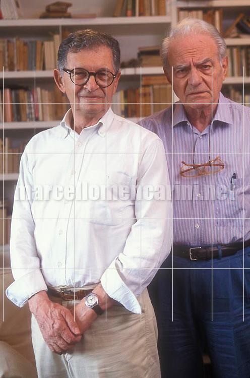 Rome, 1999. Italian scriptwriters Age & Scarpelli (Agenore Incrocci and Furio Scarpelli) / Roma, 1999. Gli sceneggiatori Age e Scarpelli ((Agenore Incrocci e Furio Scarpelli)) - © Marcello Mencarini