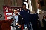 galbiati okeke<br /> presentazioe supercoppa 2018<br /> Legabasket Serie A 2018/19<br /> Brescia, 24/09/2018<br /> Ciamillo-Castoria