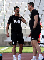 Fifa Womans World Cup Canada 2015 - Preview //<br /> Cyprus Cup 2015 Tournament ( Gsp Stadium Nicosia - Cyprus ) - <br /> Italy vs Canada 0-1   //  John Herdman - Coach of Canada (Left)