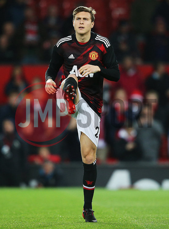 Victor Lindelof of Manchester United warms up - Mandatory by-line: Matt McNulty/JMP - 18/11/2017 - FOOTBALL - Old Trafford - Manchester, England - Manchester United v Newcastle United - Premier League
