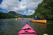 Kayaking, Huleia Stream, Nawiliwili, Kauai, Hawaii