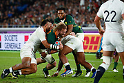 RG Snyman of South Africa is tackled by Billy Vunipola of England during the World Cup Japan 2019, Final rugby union match between England and South Africa on November 2, 2019 at International Stadium Yokohama in Yokohama, Japan - Photo Yuya Nagase / Photo Kishimoto / ProSportsImages / DPPI