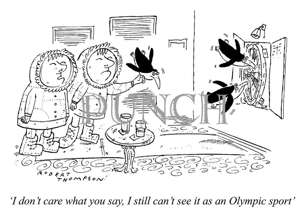 'I don't care what you say, I still can't see it as an Olympic sport'