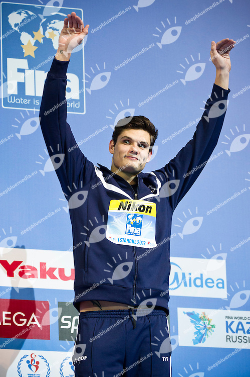 MANAUDOU Florent FRA.Men 50m Breaststroke.FINA World Short Course Swimming Championships.Istanbul Turkey 12 - 16 Dec. 2012.Day 05.Photo G.Scala/Deepbluemedia/Inside