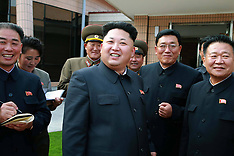 OCT 22 2014 Kim Jong Un at Yonphung Scientists Rest Home
