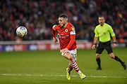 Conor Chaplin of Barnsley FC on the attack during the EFL Sky Bet Championship match between Barnsley and Queens Park Rangers at Oakwell, Barnsley, England on 14 December 2019.