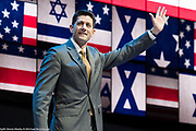 """Speaker of the House of Representatives Paul Ryan at the 2017 American Israel Public Affairs Committee (AIPAC) Policy Conference in Washington, D.C. See more images by clicking on """"Image Galleries +"""" at the top left of this page, then selecting """"All Galleries"""" and then selecting """"AIPAC 2017""""."""