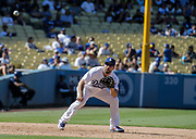 Aug 13 2016 - Los Angeles U.S. CA - LA Dodgers 3B Rob Segedin make a play at third base during MLB game between LA Dodgers and the Pittsburgh Pirates 8-4 win at Dodgers Stadium Los Angeles Calif. Thurman James / CSM