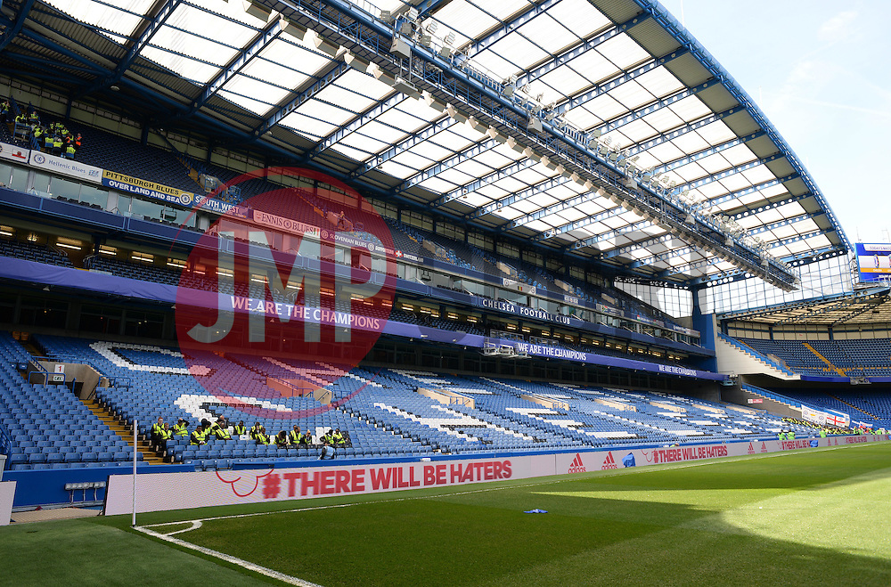 General view inside Stamford Bridge with banners displaying we are Champions- Photo mandatory by-line: Alex James/JMP - Mobile: 07966 386802 - 10/05/2015 - SPORT - Football - London - Stamford Bridge - Chelsea v Liverpool - Barclays Premier League