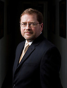 Grover Norquist, President of Americans for Tax Reform, poses for a portrait at his offices in Washington, DC, April 1, 2008.