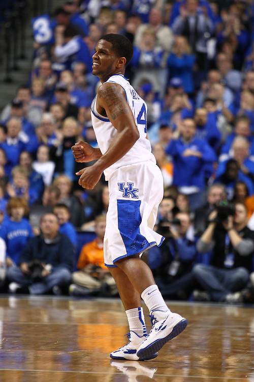 UK guard Julius Mays smiles after making a couple of three point baskets in the second half. Mays scored 9 points in the win, 75-65. The University of Kentucky Men's Basketball team hosted University of Tennessee , Tuesday, Jan. 15, 2013 at Rupp Arena in Lexington . Photo by Jonathan Palmer/Special to the Courier-Journal