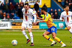 CJ Hamilton of Mansfield Town looks to get the better of Dylan Connolly of Bradford City - Mandatory by-line: Ryan Crockett/JMP - 25/01/2020 - FOOTBALL - One Call Stadium - Mansfield, England - Mansfield Town v Bradford City - Sky Bet League Two