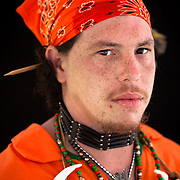 Jerrod Phillip Smith.  Monacan. 29.  First Powwow where he's danced.  Portraits at the Monacan Powwow on Saturday, May 16, 2015.  John Boal Photography