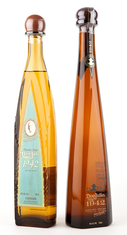 Don Julio 1942 (old style bottle on the left, new style bottle on the right.) -- Image originally appeared in the Tequila Matchmaker: http://tequilamatchmaker.com