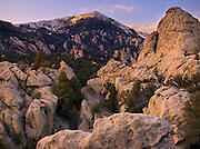Idaho, south central, granite formations in City of the Rocks Nature Reserve