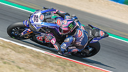 September 28, 2018 - 22, Alex Lowes, GBR, Yamaha YZF R1, Pata Yamaha Official WorldSBK Team, SBK 2018, MOTO - SBK Magny-Cours Grand Prix 2018, Free Practice 2, 2018, Circuit de Nevers Magny-Cours, Acerbis French Round, France ,September 28 2018, action during the SBK Free Practice 2 of the Acerbis French Round on September 28 2018 at Circuit de Nevers Magny-Cours, France (Credit Image: © AFP7 via ZUMA Wire)