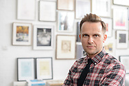 Portrait  photography of interior designer in his London studio.
