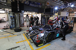 June 18, 2017 - Le Mans, Sarthe, France - Jackie Chan DC Racing Oreca 07 rider DAVID CHENG in the pit lane for refueling during the race of the 24 hours of Le Mans on the Le Mans Circuit - France (Credit Image: © Pierre Stevenin via ZUMA Wire)