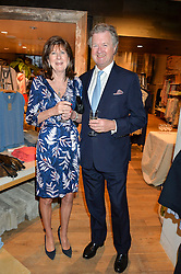 The EARL & COUNTESS OF BALFOUR at a party to celebrate the publication of The Naturalista by Xochi Balfour held at Anthropologie, 158 Regent Street, London on 19th April 2016.
