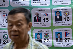 March 24, 2019 - Bangkok, Thailand - A list of candidates for Thailand's general election, in Bangkok, Thailand, on March 24, 2019. (Credit Image: © Thomas De Cian/NurPhoto via ZUMA Press)