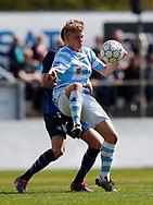 FODBOLD: Tobias Christensen (FC Helsingør) under kampen i NordicBet Ligaen mellem Nykøbing FC og FC Helsingør den 7. maj 2017 i Nykøbing Falster Idrætspark. Foto: Claus Birch