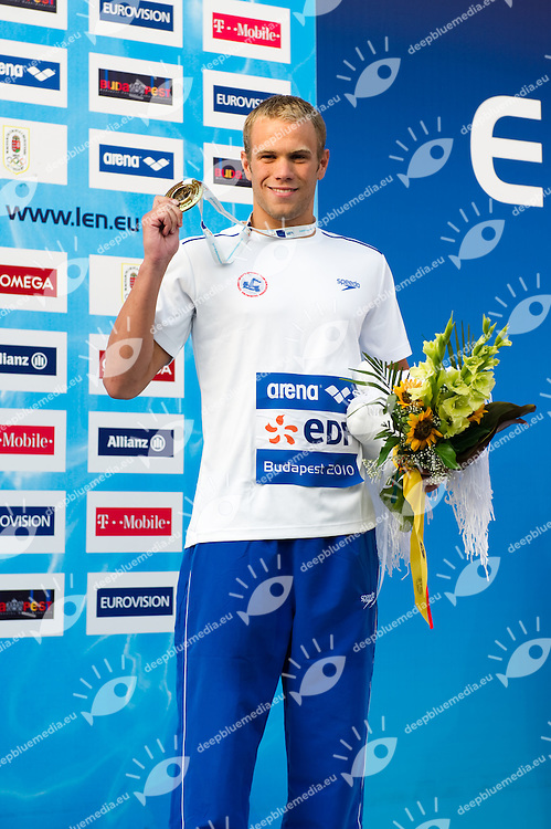 Budapest European Championships 2010.in Swimming, Diving, Synchronised Swimming, Open Water Swimming.Day 12.Diving Men's 400m Individual Medley..Nevo Gal ISR       Bronze Medal.photo: Deepbluemedia.eu