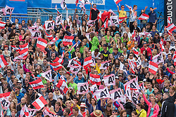 30.07.2015, Strandbad, Klagenfurt, AUT, A1 Beachvolleyball EM 2015, im Bild die Beachvolleyball Fans // during of the A1 Beachvolleyball European Championship at the Strandbad Klagenfurt, Austria on 2015/07/30. EXPA Pictures © 2015, EXPA Pictures © 2015, PhotoCredit: EXPA/ Mag. Gert Steinthaler