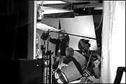 "Fred Murphy, Bruce MacCallum, David Koepp on the set of ""Ghost Town"" (Dir: David Koepp, 2008)"