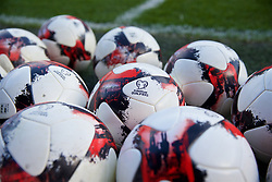 CARDIFF, WALES - Thursday, November 23, 2017: Official Adidas match balls during a training session ahead of the FIFA Women's World Cup 2019 Qualifying Round Group 1 match between Wales and Kazakhstan at the Cardiff City Stadium. (Pic by David Rawcliffe/Propaganda)