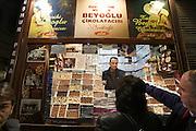 Istanbul. Istiklal Street pedestrian zone. Chocolate shop.