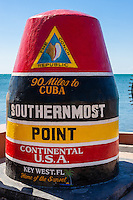 US, Florida, Key West. Southernmost Point of Continental USA.