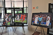 Photo exhibition &quot;Euro 2008&quot; of Adam Nurkiewicz and Piotr Hawalej in Torwar Hall in Warsaw, Poland.<br /> <br /> Poland, Warsaw, June 26, 2008<br /> <br /> Picture also available in RAW (NEF) or TIFF format on special request.<br /> <br /> For editorial use only. Any commercial or promotional use requires permission.<br /> <br /> Mandatory credit:<br /> Photo by &copy; Adam Nurkiewicz / Mediasport