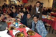 Roma 26 Dicembre 2009.La comunità di Sant'Egido festeggia il Natale al Carcere di  Regina Coeli portando doni ed un pranzo speciale offerto a  100 detenuti