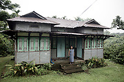 "Yormary ,50  she always lived in this house. She says: ""I think this is a special village because I believe that this village is planned by God"" <br /> 