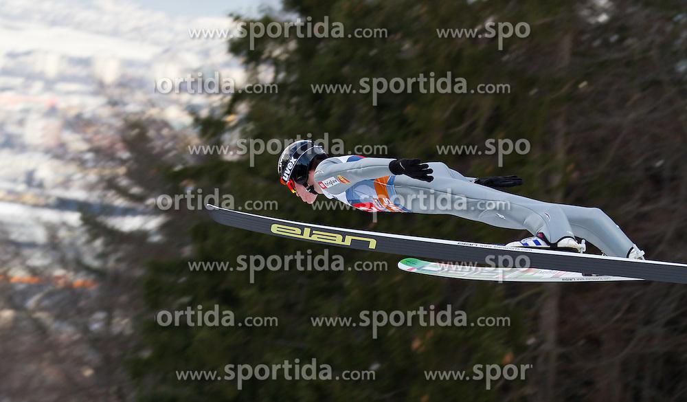 04.01.2012, Bergisel-Stadion, Innsbruck, AUT, 60. Vierschanzentournee, FIS Ski Sprung Weltcup, 1. Wertungssprung, im Bild Peter Prevc (SLO) // Peter Prevc of Slovenia during 1st Round of 60th Four-Hills-Tournament FIS World Cup Ski Jumping at Bergisel-Stadion, Innsbruck, Austria on 2012/01/04. EXPA Pictures © 2012, PhotoCredit: EXPA/ Peter Rinderer