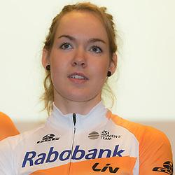 PAPENDAL (NED) wielrennen<br />Het Rabobank-Liv vrouwenteam en het Developmentteam werden op Papendal voorgesteld.<br />Anna van der Breggen is ook in 2016 te zien in de Giro Rosa. De winnares van afgelopen jaar wil er de puntjes op de i zetten voor Rio. De olympische wegwedstrijd is namelijk loodzwaar.